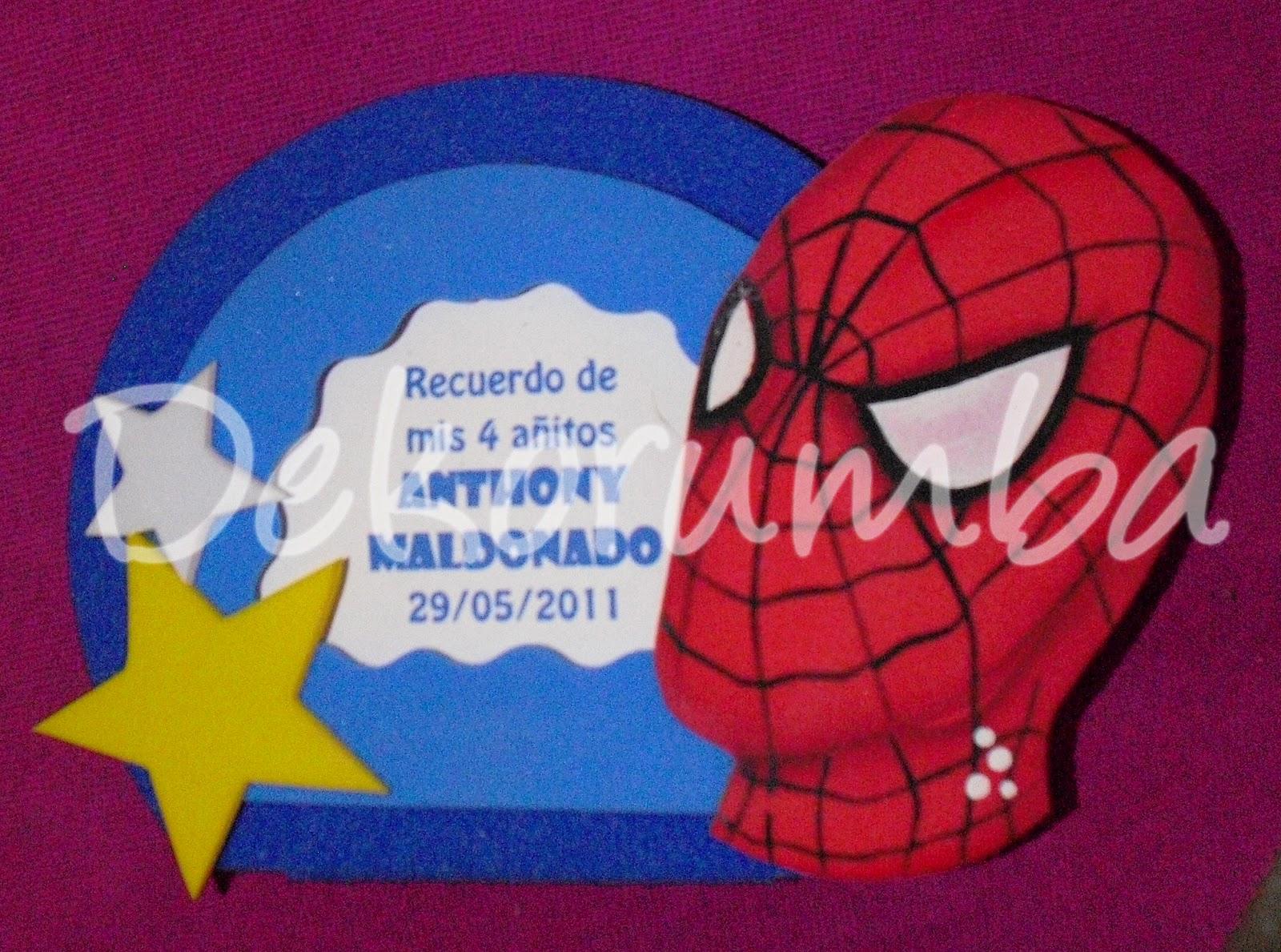 Dekorumba Tarjeta De Invitaciones Spiderman