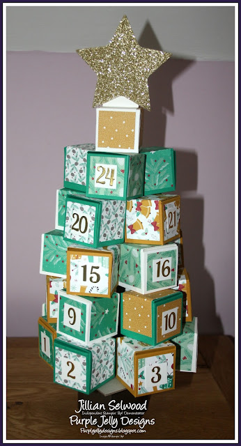 Presents and Pinecones DSP, Advent Calendar, Tree, Emerald Envy Cardstock, Delightful Dijon Cardstock