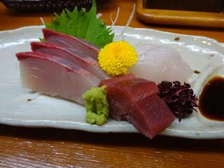 松江の旬菜郷土料理 一隆の刺身の盛り合わせ