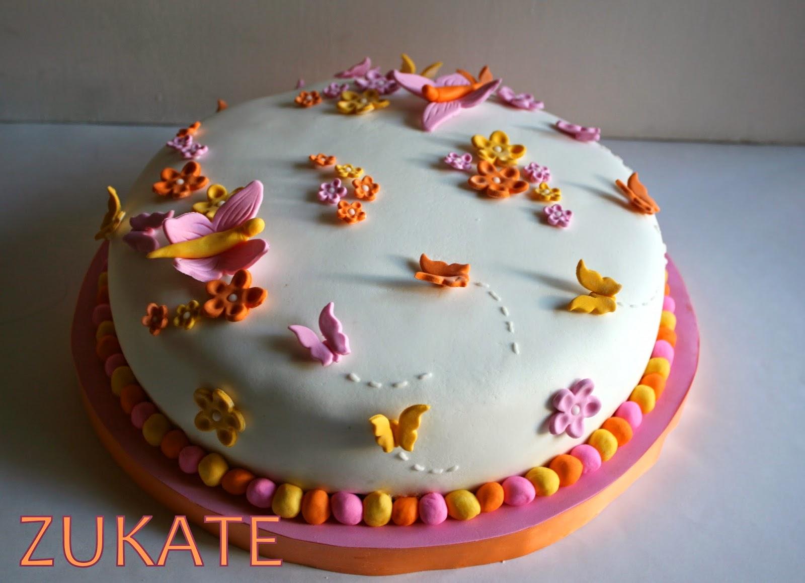 Torta De Flores Y Mariposas Para Andrea Zukate