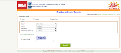 Enrollment Center Search in Karnataka