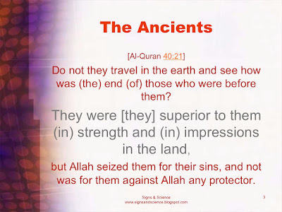The Ancients - Allah seized them for their sins