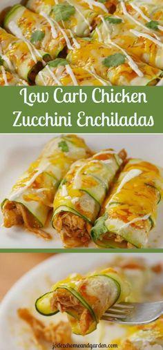 Chicken Zucchini Enchiladas|Low Carb Recipe