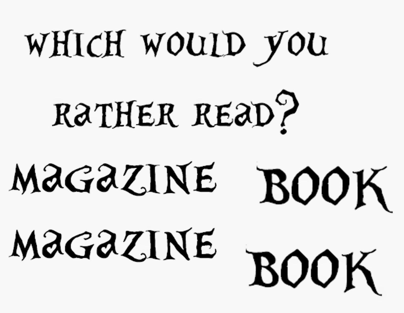 Librarian on Display: June: Books Vs. Magazines Display