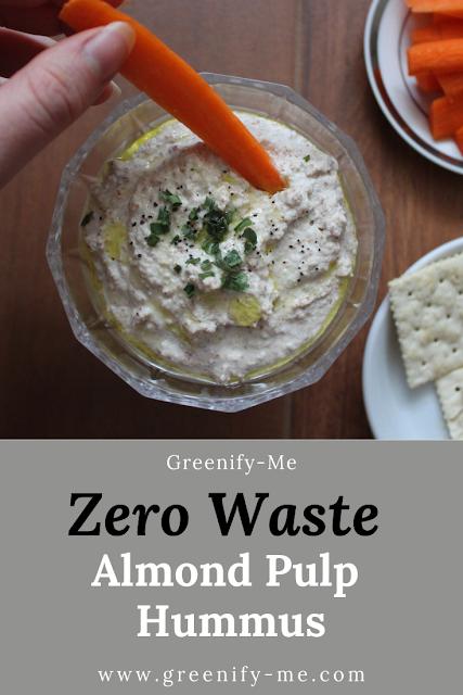 Zero Waste Almond Pulp Hummus