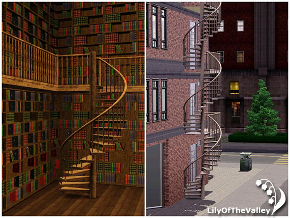 Empire Sims 3 Basic Spiral Stairs For Balcony The Sims