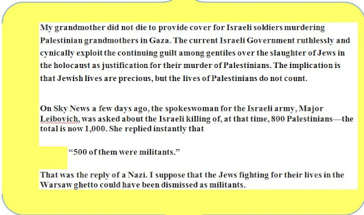 Gerald Kaufman MP RIP – A Wonderful Example of Jewish Humanitarianism and Support for the Palestinians