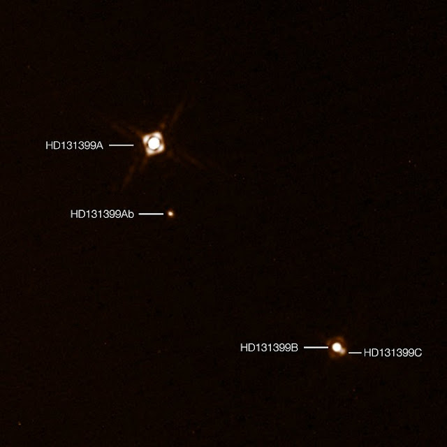 A surprising planet with three suns