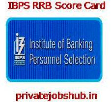 IBPS RRB Score Card