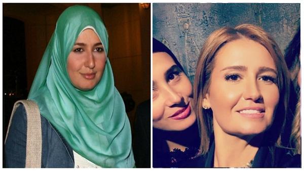 مفاجأة غير متوقعة .. بعد غياب 15 عام  شقيقة هنا شيحه تظهر بدون الحجاب !