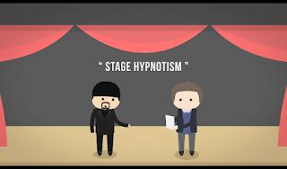 Stage Hipnotism atau Hipnotis Panggung yang tujuannya untuk menghibur yang biasanya ada di tv televisi