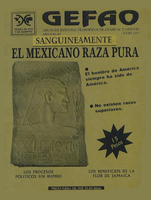 Revista GEFAO SANGUINEAMENTE EL MEXICANO RAZA PURA
