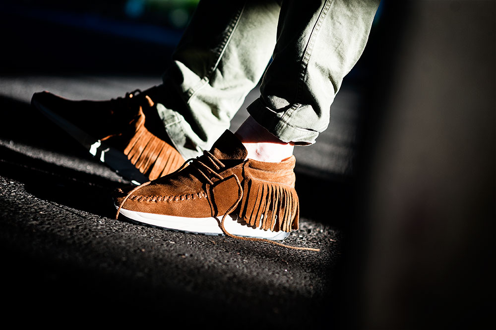 N.D.G. Studio Cognac Mid Native Run product photography by Tom Cunningham