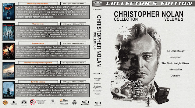 Christopher Nolan Collection - Volume 2 Bluray Cover