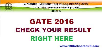 Check your Gate 2016 result | Gate result 2016, Scorecard