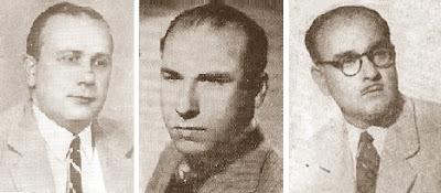 Vicente Almirall, Ramón Fabregat y Ricardo A. Oller