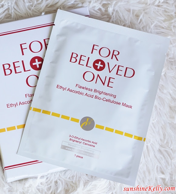 For Beloved One, Flawless Brightening Ethyl Ascorbic Acid Essence,  Flawless Brightening Ethyl Ascorbic Acid Bio-Cellulose Mask, Beauty Review, Taiwan Beauty Review, Mask Review, Whitening Skincare Review, For Beloved Girl, For Beloved Girl Mask, Mineral Mask, Malaysia Beauty Influencer Blog