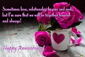 Happy first anniversary wishes quotes for best wife with pictures