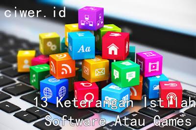 13 Keterangan istilah Software Atau Games