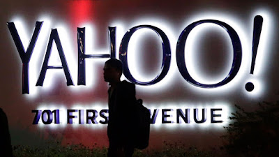 Yahoo! Sign at 701 1st Ave. Yahoo headquarters