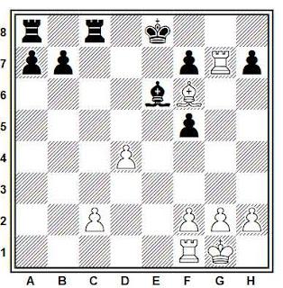 Posición de la partida Drozdov - Bikov (URSS, 1985)
