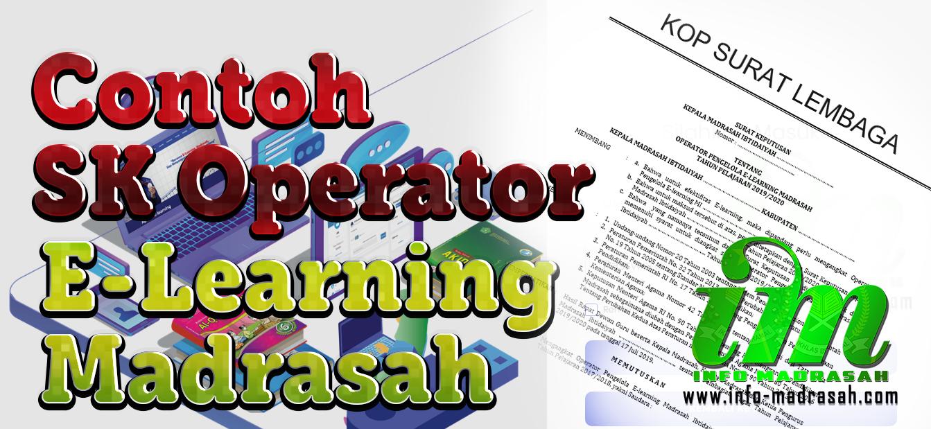 contoh sk operator e learning madrasah