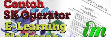 Contoh SK Operator E-Learning Madrasah - Format Microsoft Word
