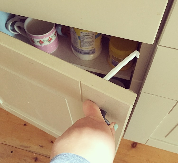 Lindam Safety Catches Fit to the Inside of Cupboards and Drawers