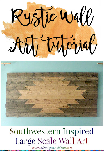 Rustic Aztec Inspired Oversized Wood Wall Art DIY Tutorial - TheBohoAbode