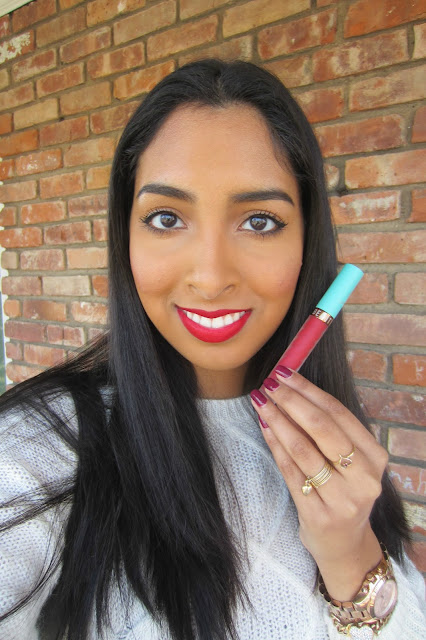 beauty bakerie - mon cheri - review - liquid lipstick - nc42