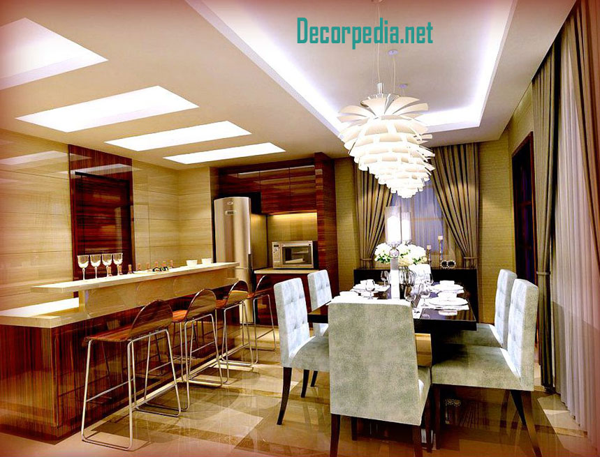 Kitchen Pop Design False Ceiling For With Led Lights