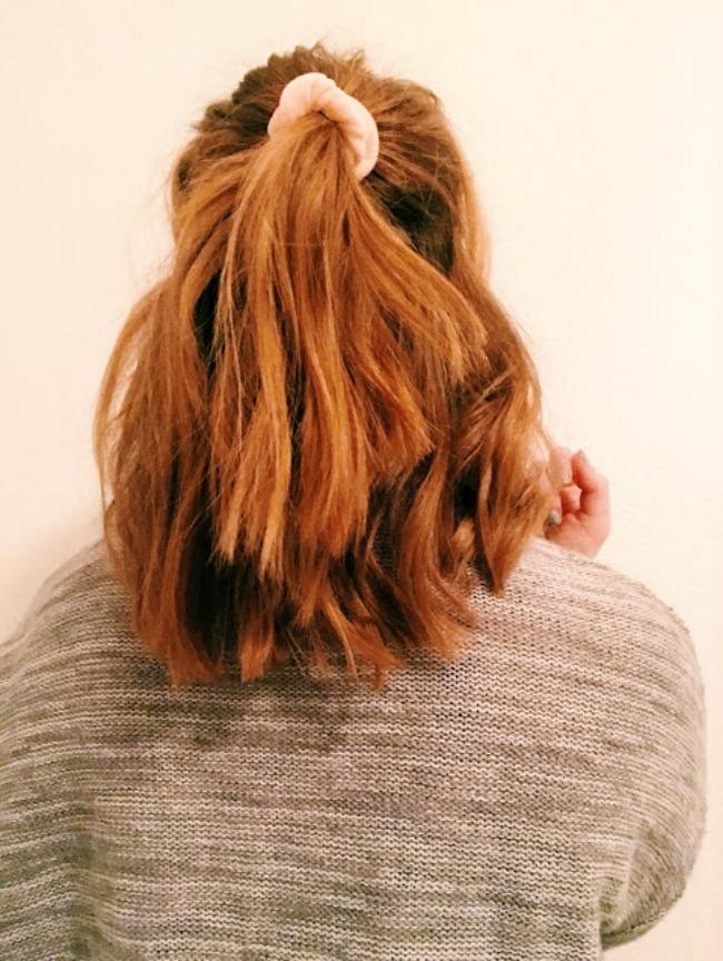 Ariana Grande Style Half Pony Short Hair