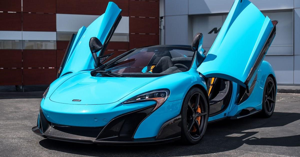 McLaren 675LT Spider in Fistral Blue (Mega Gallery)