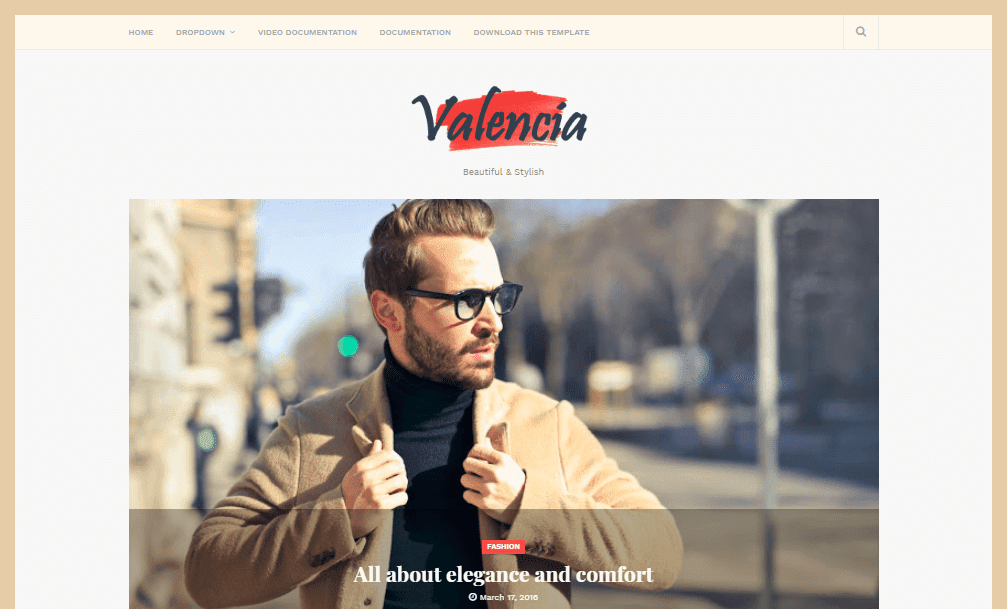 Valencia Beauty Blogger Template