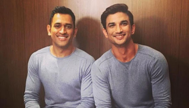 sushant singh rajput with MS Dhoni