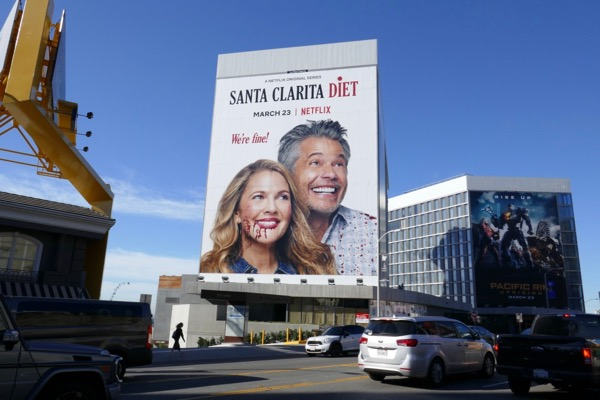 Giant Santa Clarita Diet season 2 billboard