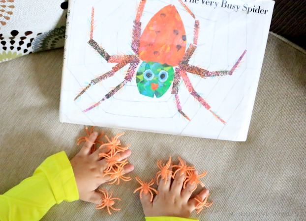 the very busy spider activity - counting to 10