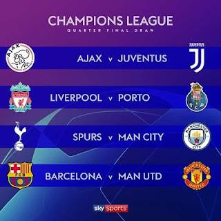 تعرف على موعد مباريات دور الثمانيه بدورى ابطال اوروبا والدورى الاوروبى 2019