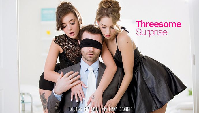 EroticaX - Kimmy Granger, Gia Paige - Threesome Surprise