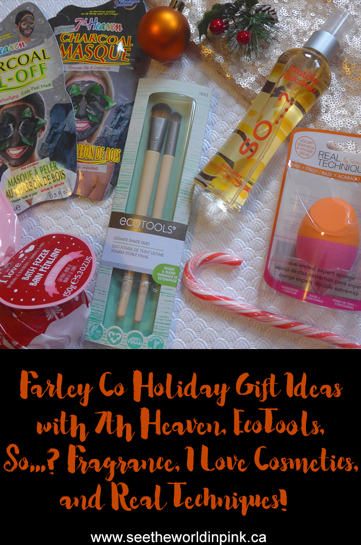 Skincare Sunday - Holiday Gift Ideas with Farley Co ~ Real Techniques, EcoTools, 7th Heaven, I Love Cosmetics and So...? Fragrance (+ a Mask Review for Fun!)