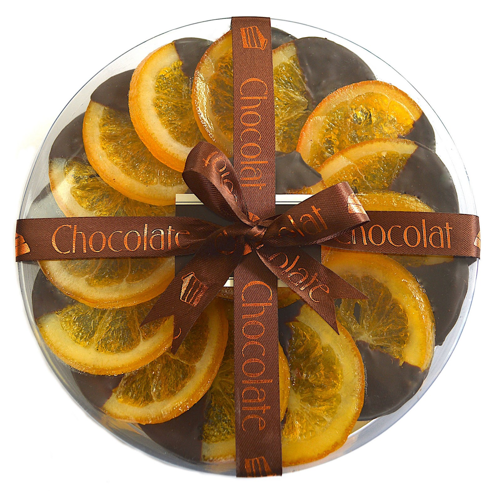 Robins & Sons Dipped Oranges in Chocolate Display Box