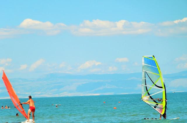 vele, mare, cielo, scuola di vela, gargano
