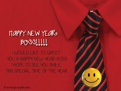 Happy New Year Wishes for Boss, Employer, Manager, Head, Chief
