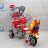 family octopus pesawat 2 kursi sepeda roda tiga anak