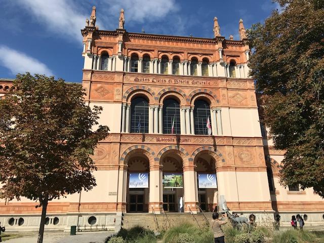 インドロ・モンタネッリ公園にある、ミラノ自然史博物館