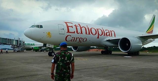 Pesawat Ethiopia Melintas Ilegal di Langit Indonesia
