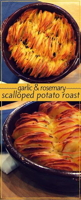 Garlic & rosemary scalloped potato roast
