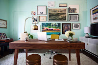 DIY Mid Century Workspace