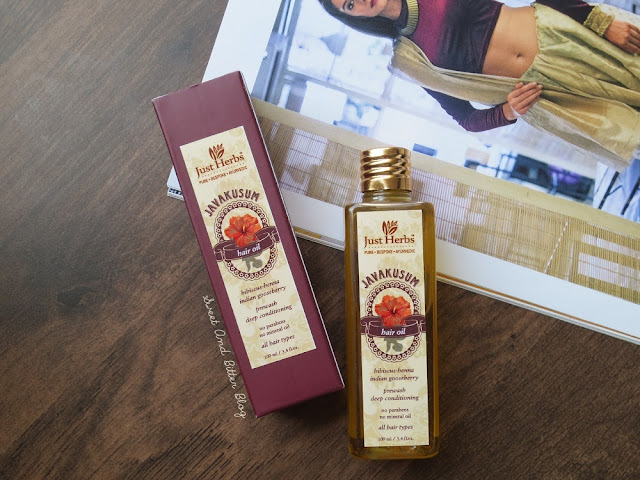 Just Herbs Javakusum Prewash Deep Conditioning Hair Oil for All Hair Types [No Mineral Oil, No Parabens] Review, Ingredients, Price in India