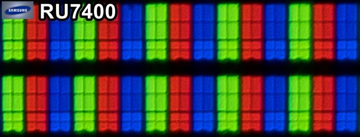 samsung RU7400 calidad de imagen pixeles